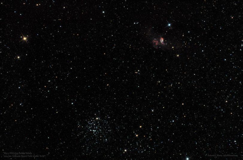 M52 y NGC7635 Bubble Nebula FW